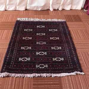 2x3 Wool Oriental Brown And Beige Handmade Persian area rugs