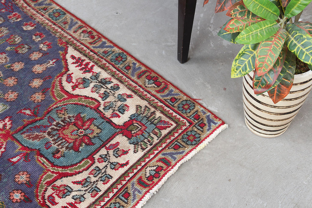 Oriental Red And Blue Persian Handmade Wool Area Rug 6x9