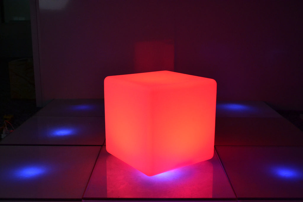 Amazing Colour Changing LED Cube Chair