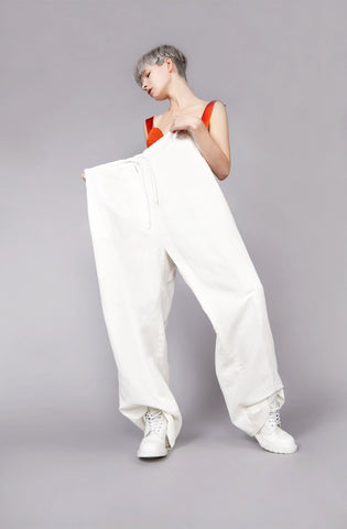 "Clean White ""Burell"" Wide Leg Trouser"