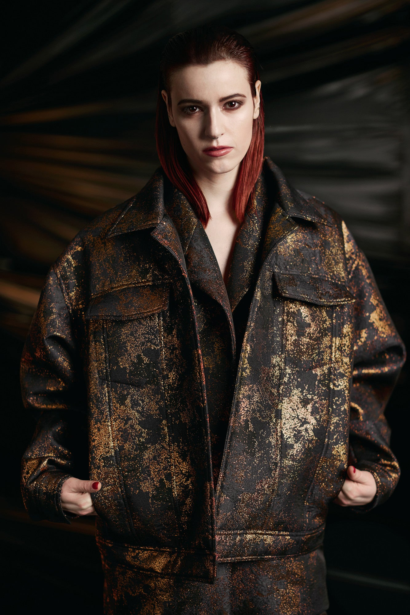 "Copper Brocade ""Maverick"" Jacket"