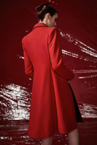 "Red Wool ""Georgette"" Coat"