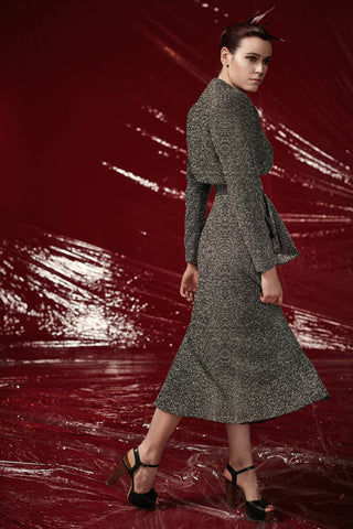 "Textured Wool ""Bladerunner"" Dress"