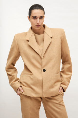 "Caramel Wool ""Dick Tracy"" Jacket"