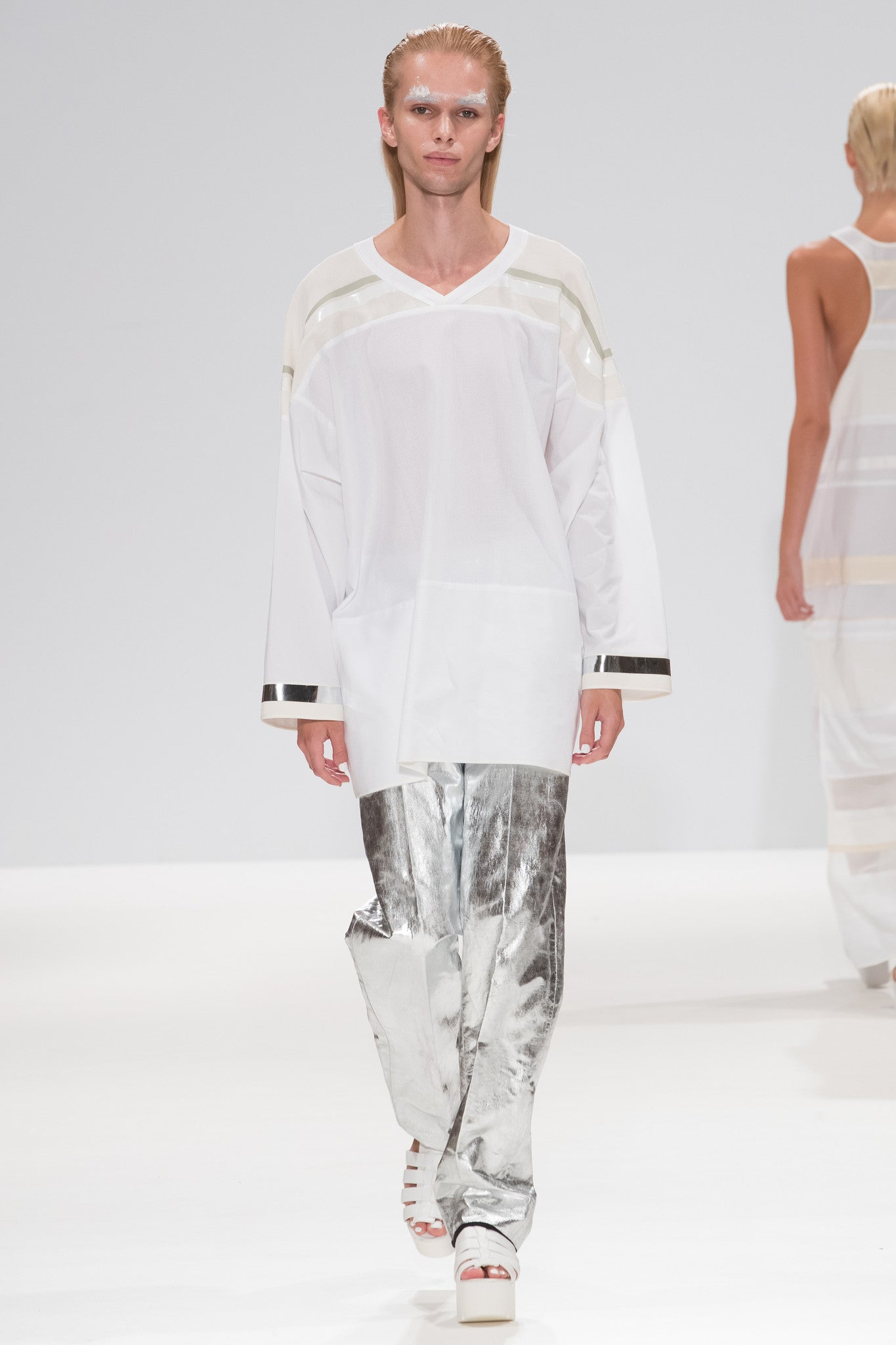 "Silver Foiled ""Blake"" Trousers"