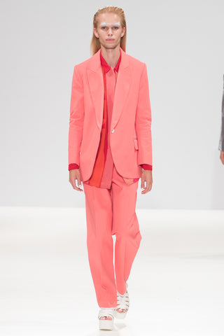 Pink Bonded ''Blake'' Trousers
