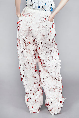 Unisex Multi Coloured Die Cut ''Burell'' Trouser
