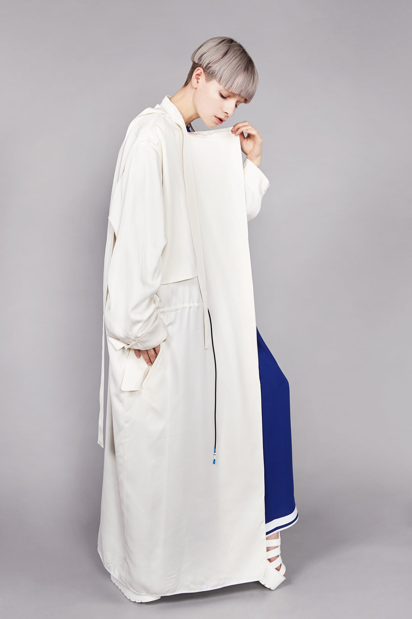 "Off White ""Helios"" Drape Coat"