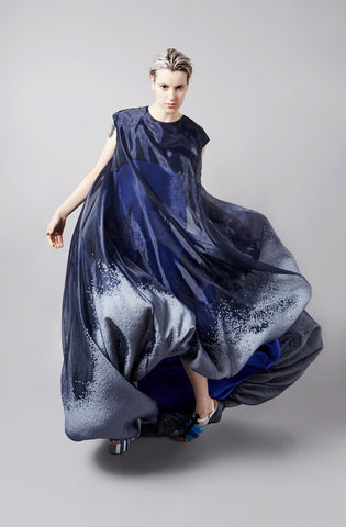 "Poly Ball beanbag ""Nimbus"" Floor Length Dress"