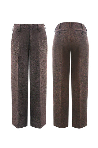 "Textured speckled wool ""Quentin"" Trouser"