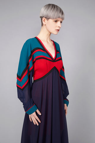 "Colour Contrast ""Raven"" Dress"