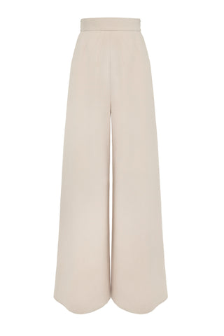 "Beige Cotton Blend ""Scopic"" Trouser"