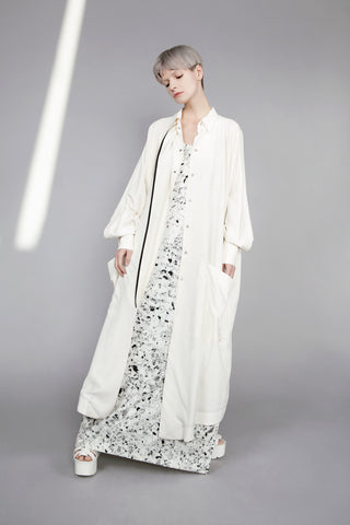 "Cream ""Stoker"" Shirt Dress"