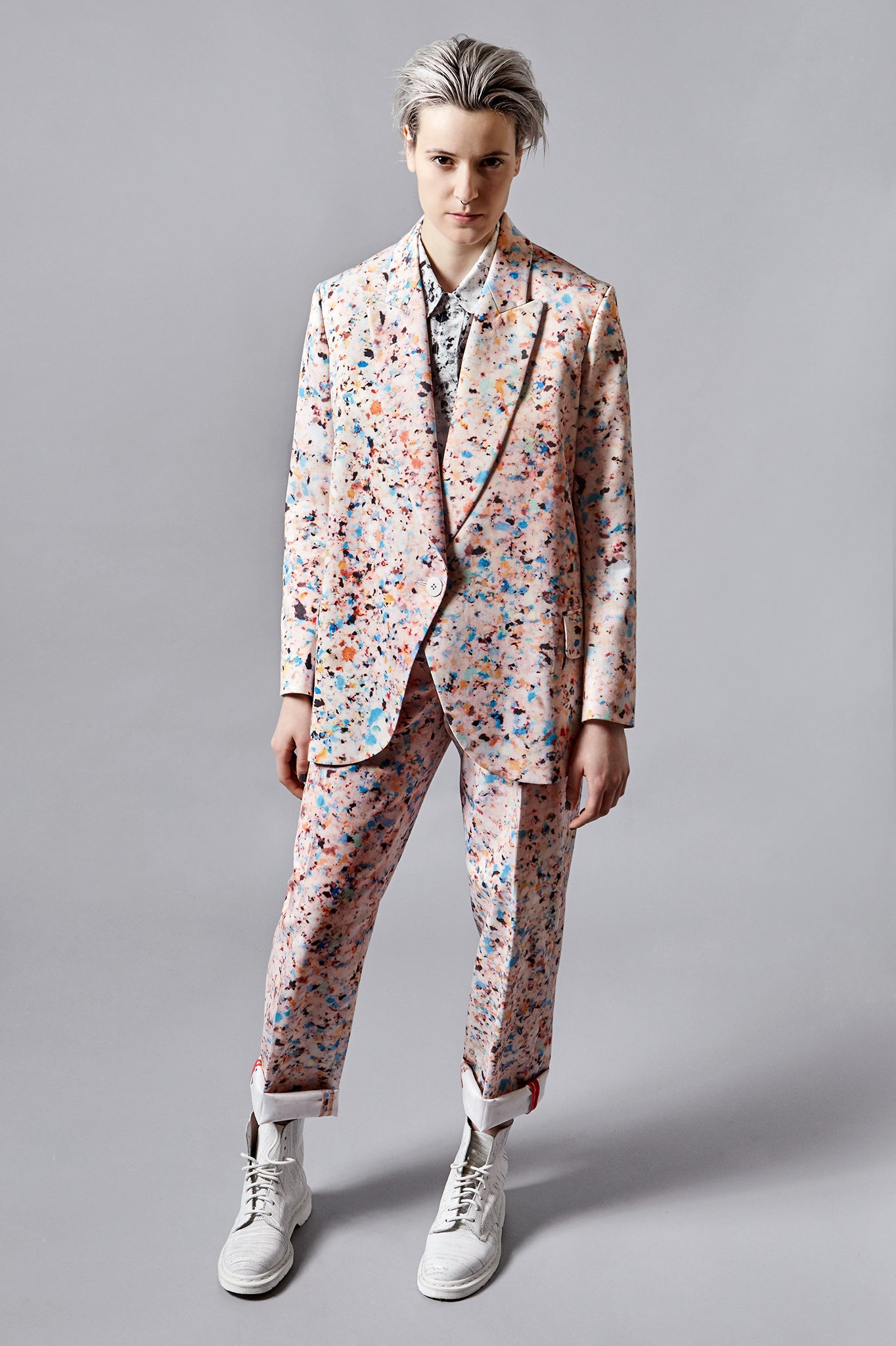 "Foam Print ""Tria"" Formal Jacket"