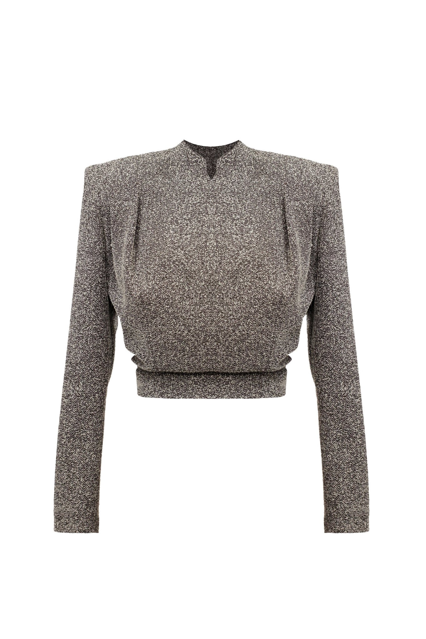 "Textured Wool ""Blade"" Top"