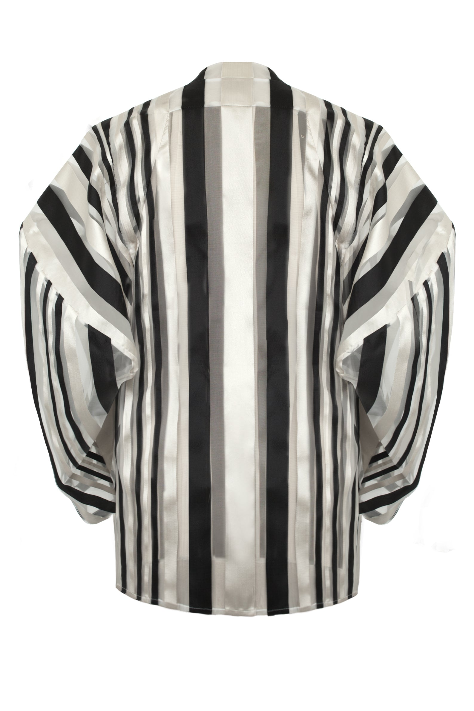 "Black, Cream and Transparent Striped ""Oval"" Blouse"