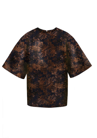 "Brocade ""Duke"" Top Copper"