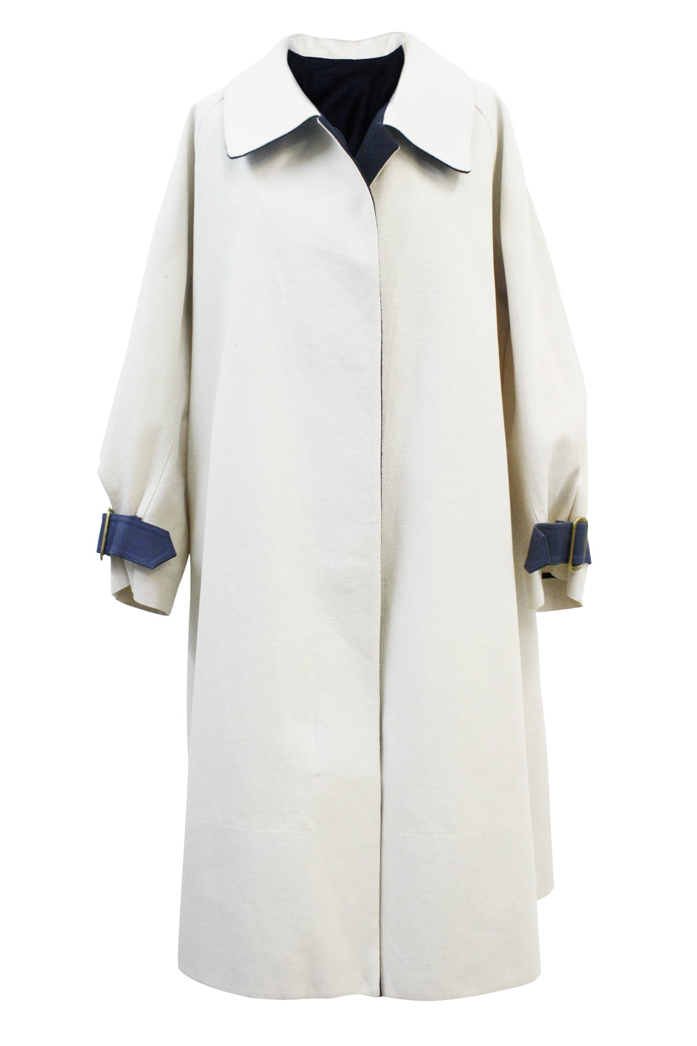 "Cream Canvas ""Cyrus"" Trench Coat"