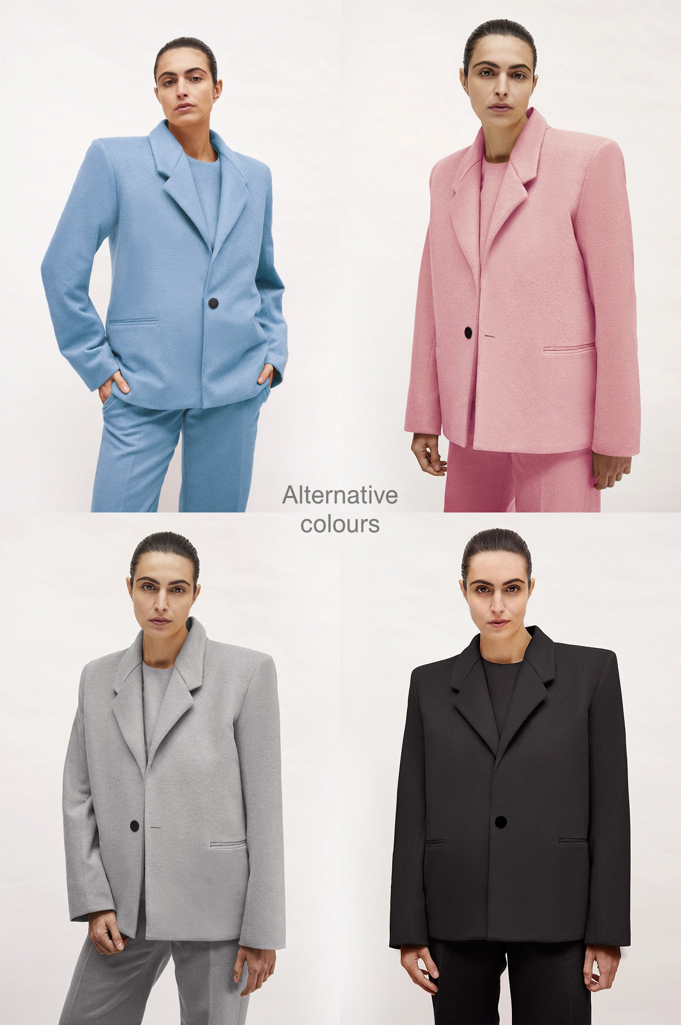 "Light Blue or Pale Pink Wool ""Dick Tracy"" Jacket"