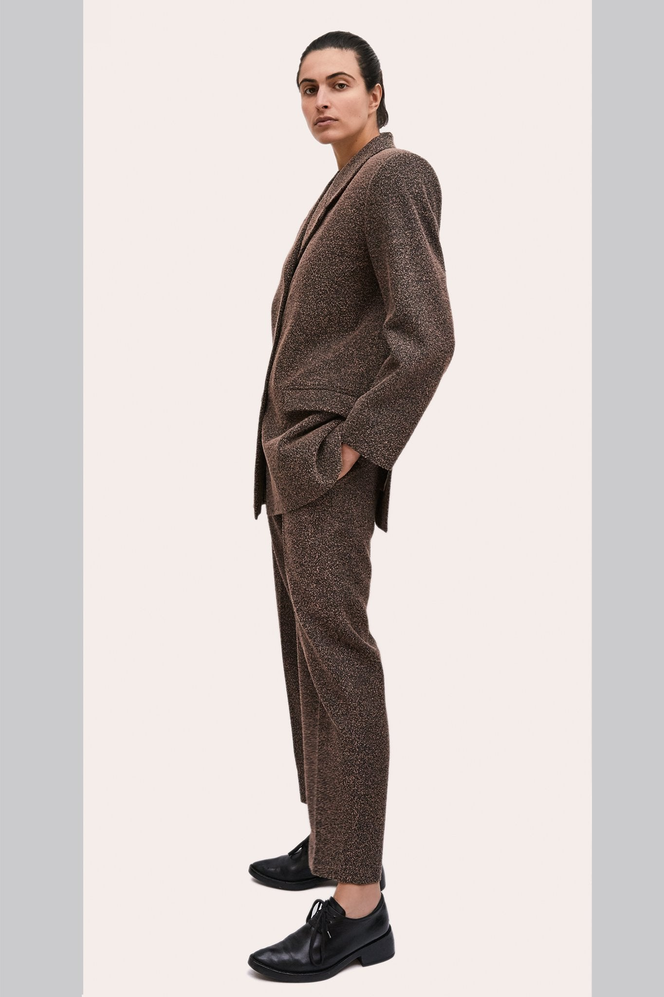 "Textured wool ""Dick Tracy"" 3-Piece Suit"