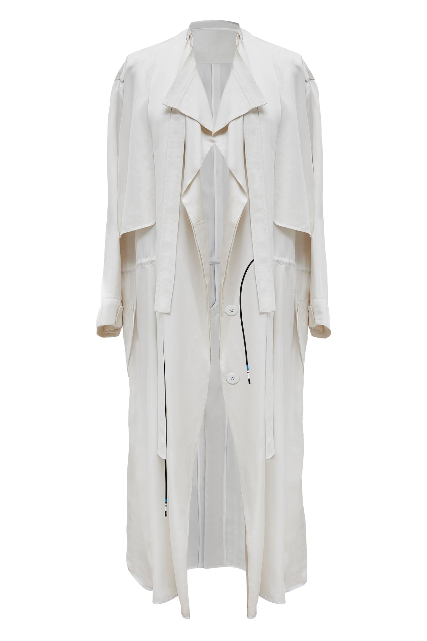 "Off-white ""Helios"" Drape Coat"