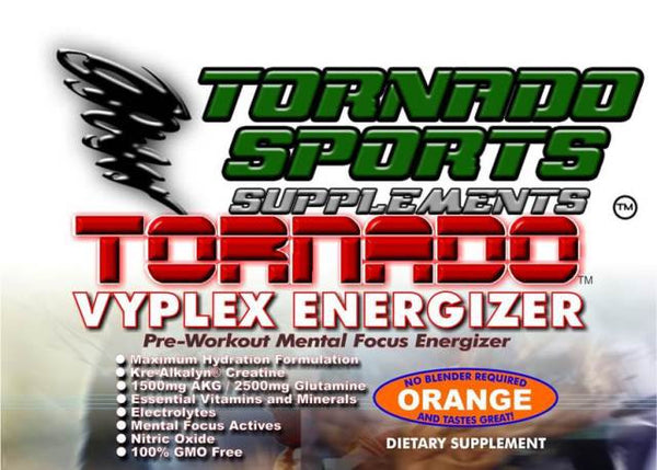 TORNADO VYPLEX PRE WORK OUT AND RECOVERY DRINK..