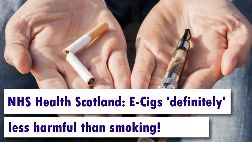 NHS Health Scotland: E-cigs 'definitely' less harmful than smoking