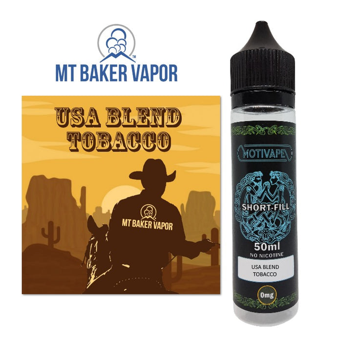 USA Blend Tobacco - Shortfill (50ml eliquid)