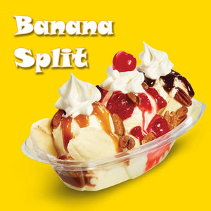 Banana Split - 100ml bottle of e liquid made in the UK