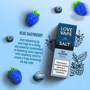 Love Vape Nic Salt - Blue Raspberry (10ml)