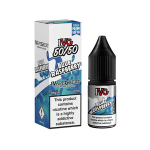 IVG 50:50 Range - Blue Raspberry (10ml)