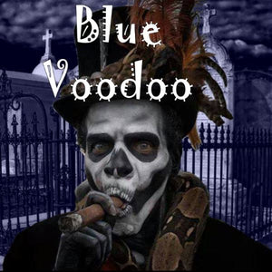 Blue Voodoo - 100ml bottle of e liquid made in the UK