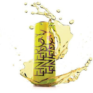 A bottle of Energy Drink flavoured eliquid made in the UK