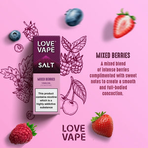 Love Vape Nic Salt - Mixed Berries (10ml)