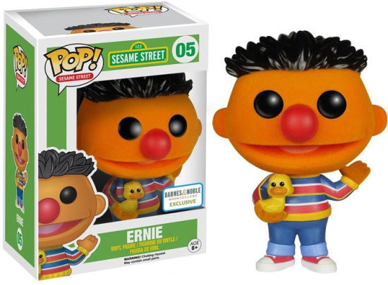 Funko POP! - Sesame Street - Ernie (Flocked) (04) - Barnes & Noble Exclusive