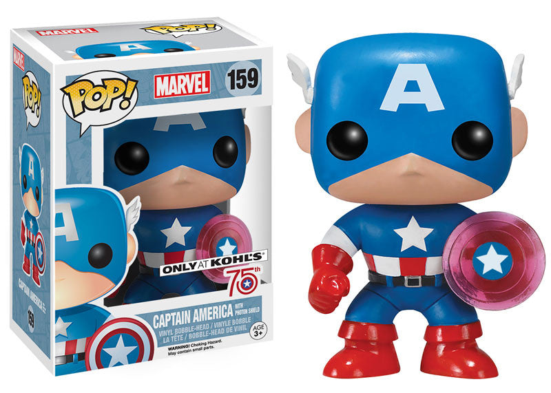 Funko POP! Marvel Comics - Captain America with Photon Shield (159) - Khols Exclusive