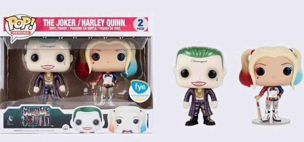 Funko POP! Suicide Squad - The Joker and Harley Quinn 2 Pack  *Metallic FYE Exclusive*