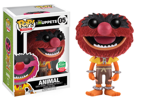 Funko POP! - The Muppets - Animal (Flocked) (05) - Funko Shop Exclusive