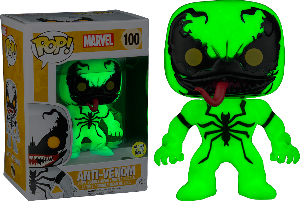 Funko Pop! - Marvel - Glow in the Dark Anti Venom (100)