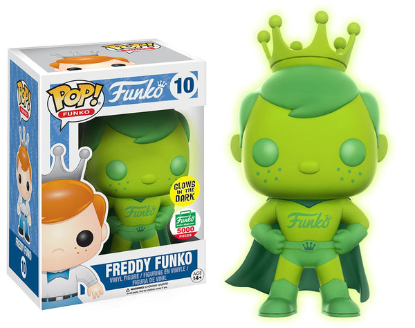 Funko POP! - Funko - Freddy Funko (10) - Super Hero *Glow in the Dark* - Funko Shop Exclusive