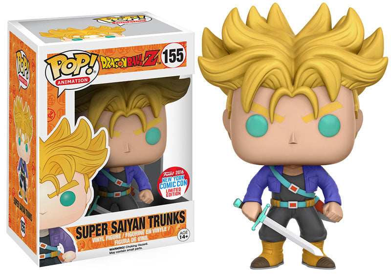 Funko POP! - Dragonball Z - Super Saiyan Trunks (155) NYCC Exclusive