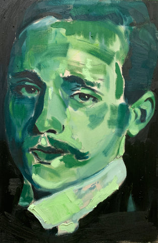 Study of Leon in Green and Turquoise