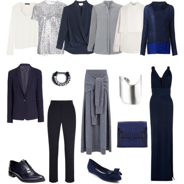 Navy and Grey 10 Item Capsule Wardrobe