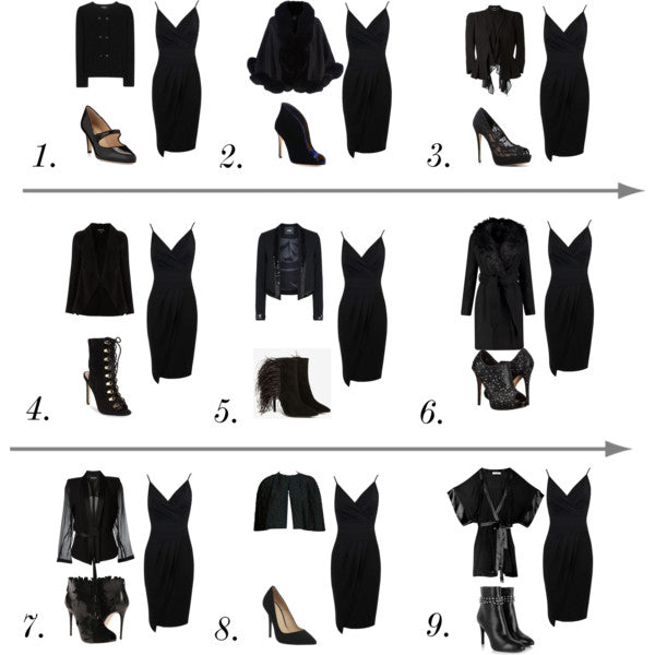 How to style the same LBD for the 9 types