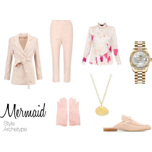Mermaid Style Archetype with Menswear Touches