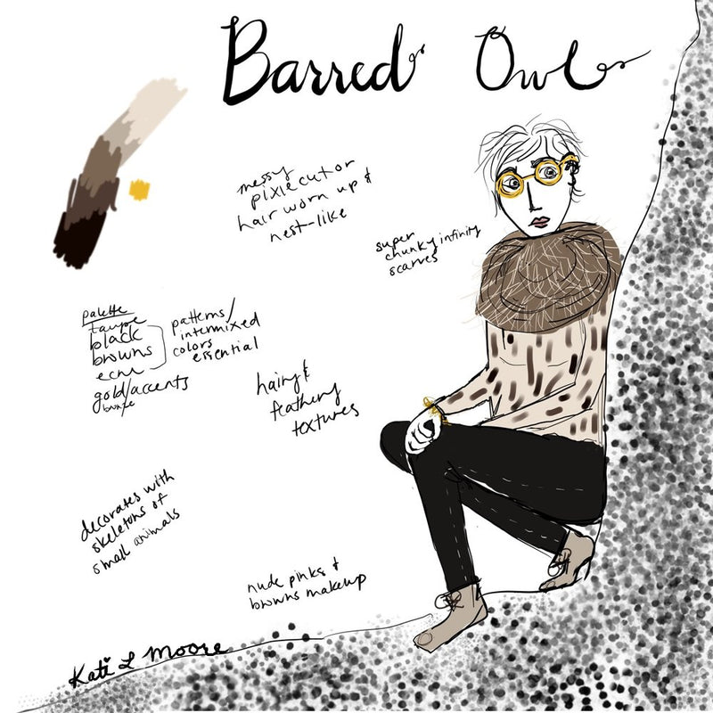 Barred Owl inspired style