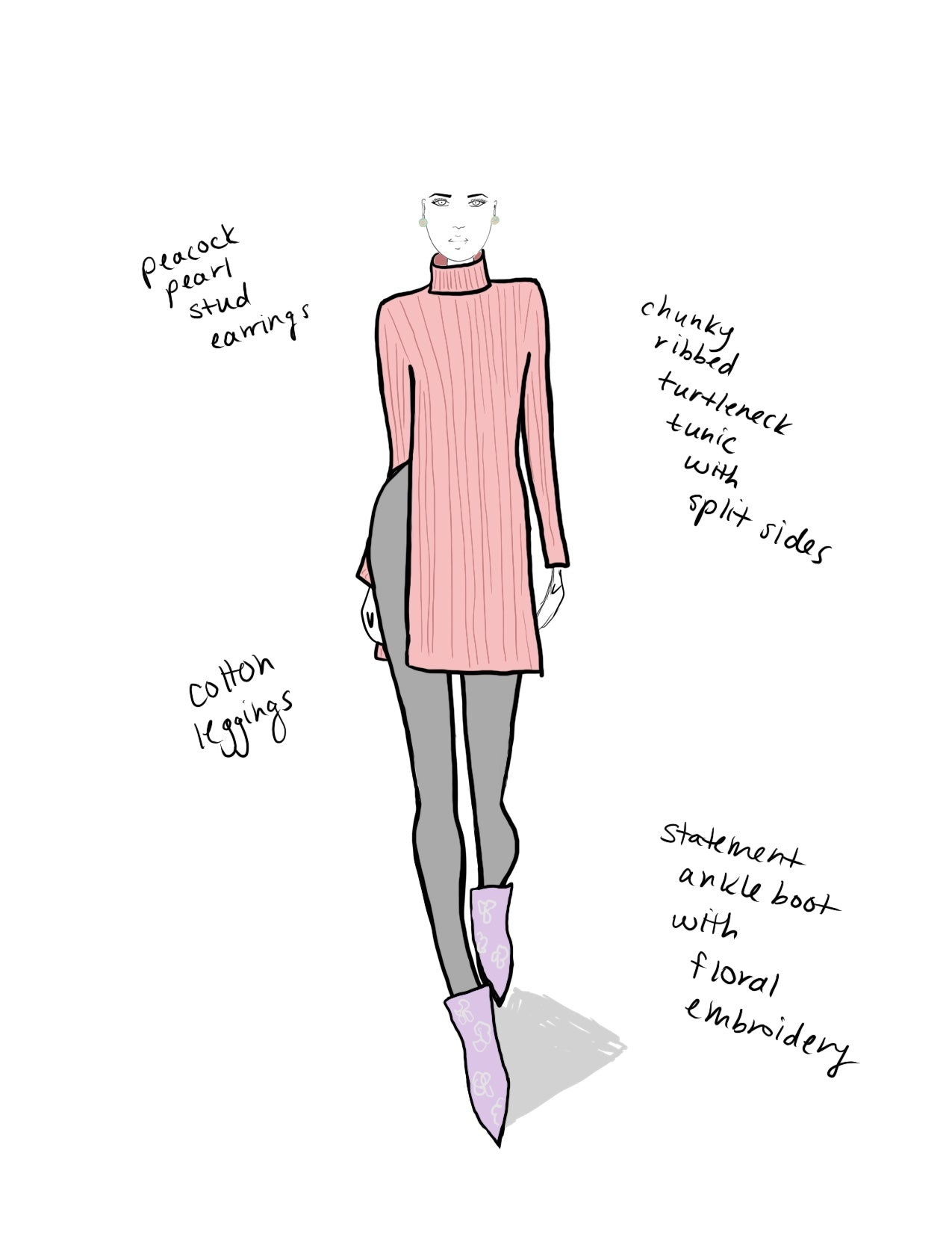 3 Custom Fashion Sketches