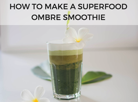 matcha ombre smoothie