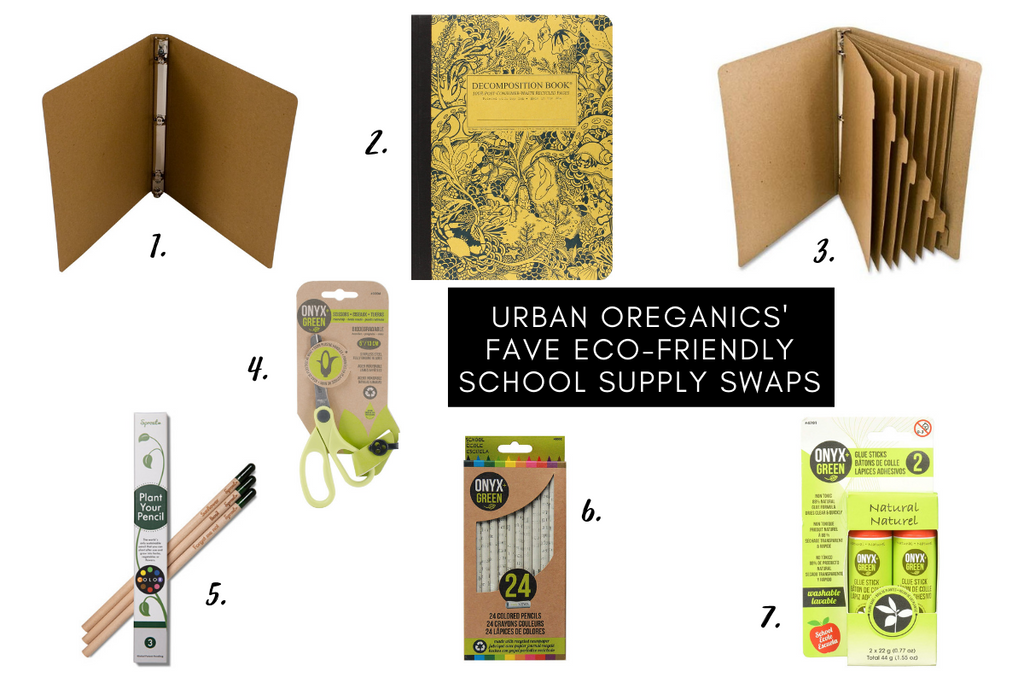 ECO FRIENDLY SWAPS URBAN OREGANICS SCHOOL SUPPLIES