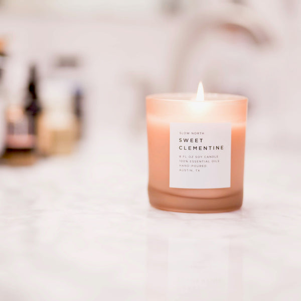 CANDLE: SWEET CLEMENTINE (100% ESSENTIAL OILS)